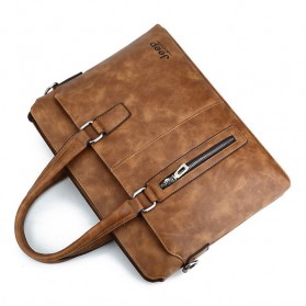 Jeep Tas Selempang Jinjing Messenger Bag Kulit Maskulin Pria - PI663 - Brown - 4