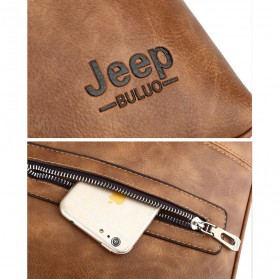 Jeep Tas Selempang Jinjing Messenger Bag Kulit Maskulin Pria - PI663 - Brown - 5