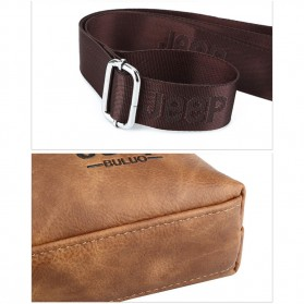 Jeep Tas Selempang Jinjing Messenger Bag Kulit Maskulin Pria - PI663 - Brown - 7