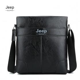 Jeep Sulppai Tas Selempang Jinjing Messenger Bag Kulit Maskulin Pria - PI571 - Black