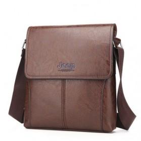 Jeep Tas Selempang Messenger Bag Kulit Maskulin Pria - B0000920 - Brown - 3