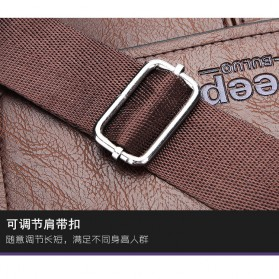 Jeep Tas Selempang Messenger Bag Kulit Maskulin Pria - B0000920 - Brown - 7
