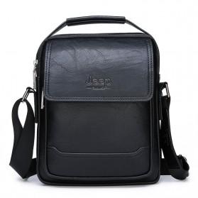 Jeep Tas Selempang Messenger Bag Kulit Maskulin Pria - 6621-2 - Black