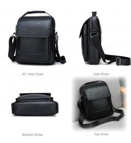 Jeep Tas Selempang Messenger Bag Kulit Maskulin Pria - 6621-2 - Black - 10