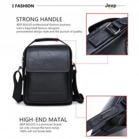 Jeep Tas Selempang Messenger Bag Kulit Maskulin Pria - 6621-2 - Black - 11