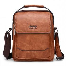Jeep Tas Selempang Messenger Bag Kulit Maskulin Pria - 6621-2 - Brown