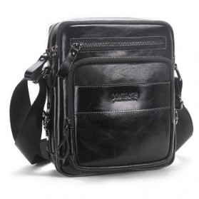 Contacts Tas Selempang Pria Messenger Bag Bahan Kulit - MB070 - Black