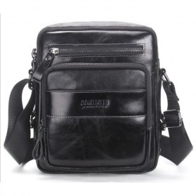 Contacts Tas Selempang Pria Messenger Bag Bahan Kulit - MB070 - Black - 2