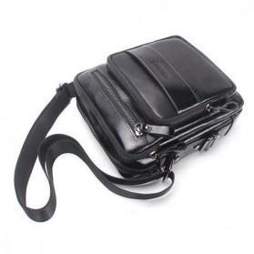 Contacts Tas Selempang Pria Messenger Bag Bahan Kulit - MB070 - Black - 3