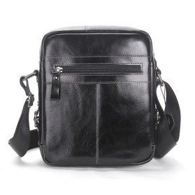 Contacts Tas Selempang Pria Messenger Bag Bahan Kulit - MB070 - Black - 4