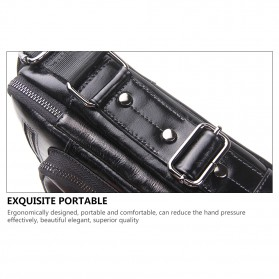Contacts Tas Selempang Pria Messenger Bag Bahan Kulit - MB070 - Black - 8