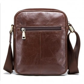 Contacts Tas Selempang Pria Messenger Bag Bahan Kulit - MB110 - Dark Brown - 2