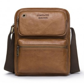 Contacts Tas Selempang Pria Messenger Bag Bahan Kulit - MB081 - Brown
