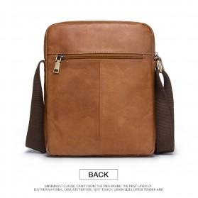 Contacts Tas Selempang Pria Messenger Bag Bahan Kulit - MB081 - Brown - 3