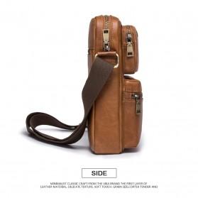 Contacts Tas Selempang Pria Messenger Bag Bahan Kulit - MB081 - Brown - 4