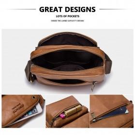 Contacts Tas Selempang Pria Messenger Bag Bahan Kulit - MB081 - Brown - 5