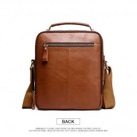 Contacts Tas Selempang Pria Messenger Bag Bahan Kulit - MB108 - Brown - 2