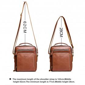 Contacts Tas Selempang Pria Messenger Bag Bahan Kulit - MB108 - Brown - 5