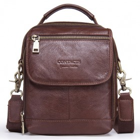 Contacts Tas Selempang Pria Messenger Bag Bahan Kulit - MB095 - Coffee