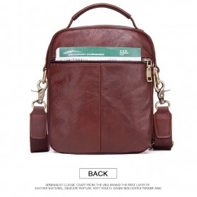 Contacts Tas Selempang Pria Messenger Bag Bahan Kulit - MB095 - Coffee - 2