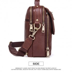 Contacts Tas Selempang Pria Messenger Bag Bahan Kulit - MB095 - Coffee - 3