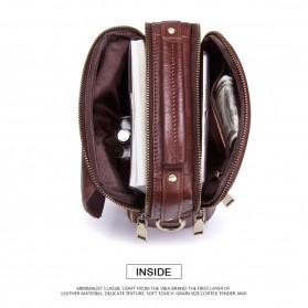 Contacts Tas Selempang Pria Messenger Bag Bahan Kulit - MB095 - Coffee - 4