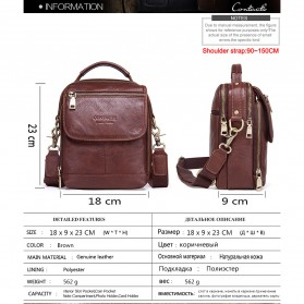 Contacts Tas Selempang Pria Messenger Bag Bahan Kulit - MB095 - Coffee - 8