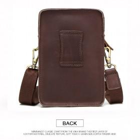 Contacts Tas Selempang Pria Messenger Bag Bahan Kulit - MB100 - Coffee - 2