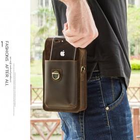 Contacts Tas Selempang Pria Messenger Bag Bahan Kulit - MB100 - Coffee - 3