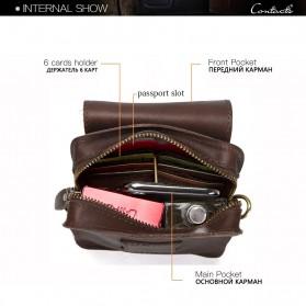 Contacts Tas Selempang Pria Messenger Bag Bahan Kulit - MB100 - Coffee - 7