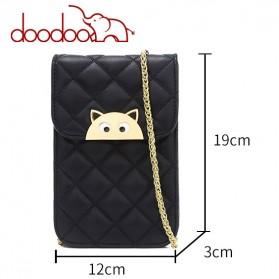 Doodoo Tas Selempang Mini Sling Bag - Black - 5
