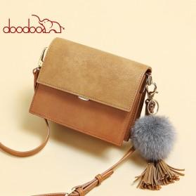 Doodoo Tas Selempang Messenger Bag - Brown - 2