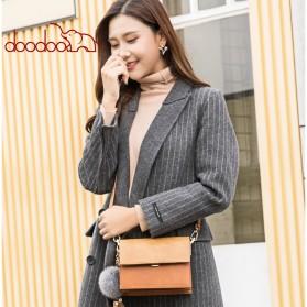 Doodoo Tas Selempang Messenger Bag - Brown - 3