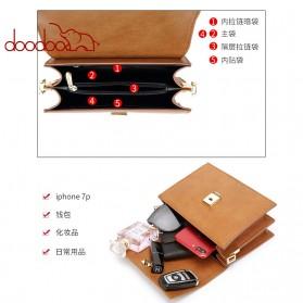 Doodoo Tas Selempang Messenger Bag - Brown - 5