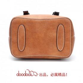 Doodoo Tas Ransel Wanita Model Vintage Retro Backpack - Brown - 4