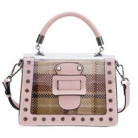Anmly Tas Selempang Transparant Wanita - Model 1 - Pink