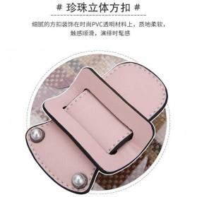 Anmly Tas Selempang Transparant Wanita - Model 1 - Pink - 4