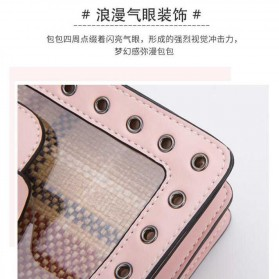 Anmly Tas Selempang Transparant Wanita - Model 1 - Pink - 7