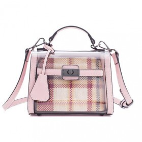 Anmly Tas Selempang Transparant Wanita - Model 2 - Pink