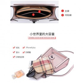 Anmly Tas Selempang Transparant Wanita - Model 2 - Pink - 7