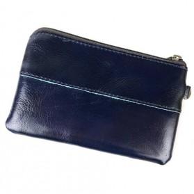 MVA Dompet Clutch Mini Pria  Bahan Kulit Sapi - 8118 - Dark Blue