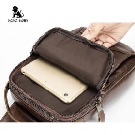 LAOSHIZI LUOSEN Tas Selempang Pria Crossbody Bag Bahan Kulit - 91003 - Coffee - 5