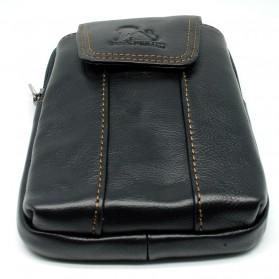 LAOSHIZI LUOSEN Tas Kulit untuk Ikat Pinggang - 91107 - Black - 3