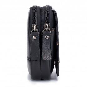 LAOSHIZI LUOSEN Tas Kulit untuk Ikat Pinggang - 91103 - Black - 3