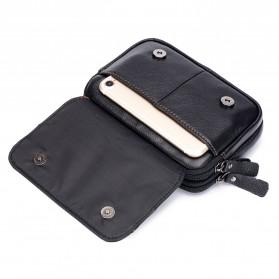 LAOSHIZI LUOSEN Tas Kulit untuk Ikat Pinggang - 91103 - Black - 6