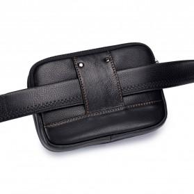 LAOSHIZI LUOSEN Tas Kulit untuk Ikat Pinggang - 91103 - Black - 7