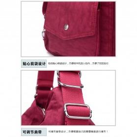JINQIAOER Tas Selempang Wanita Messenger Bag - 9823 - Black - 2