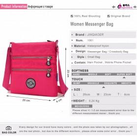 JINQIAOER Tas Selempang Wanita Messenger Bag - 1061 - Black - 6