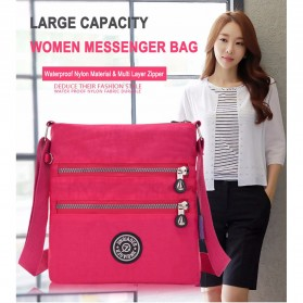 JINQIAOER Tas Selempang Wanita Messenger Bag - 1061 - Black - 7