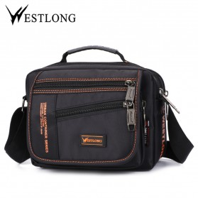 WESTLONG Tas Selempang Messenger Bag Pria Waterproof - 3720-1 - Black